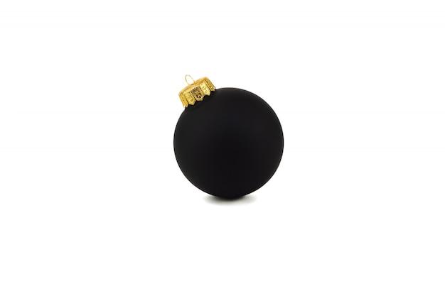 Palla nera isolata su fondo bianco