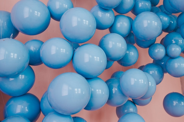 Palle blu. matrimonio o decorazione di compleanno.