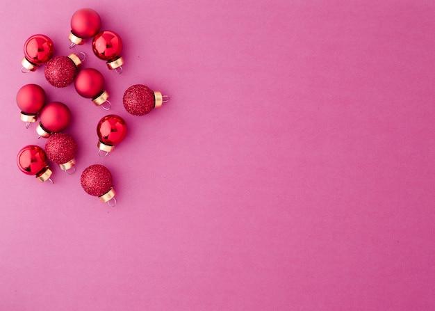 Palle di natale ornamento rosso