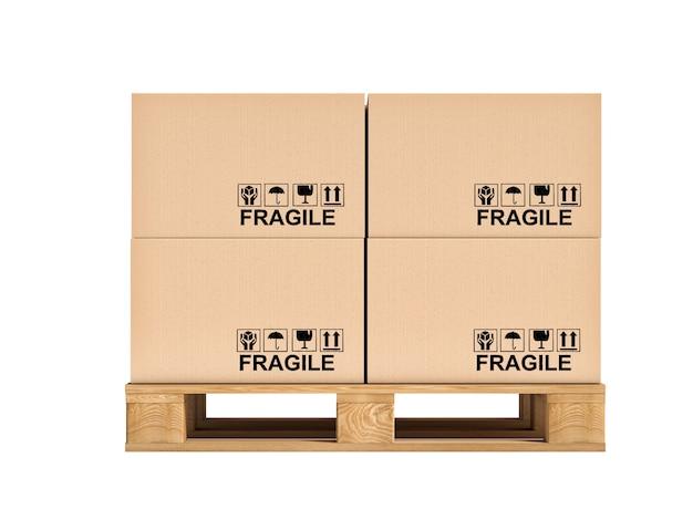Pallet e scatole