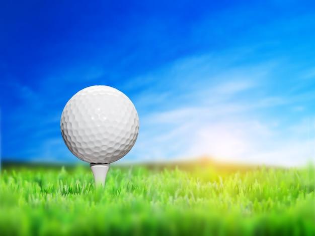 Pallina da golf primo piano