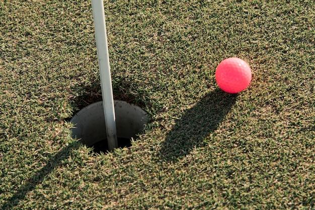 Pallina da golf vista dall'alto