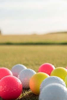 Palline da golf ad alto angolo