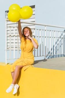 Palloncini azienda donna felice