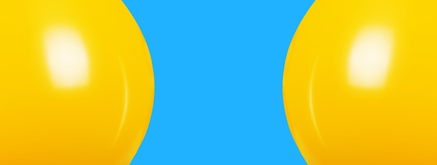 Palloncini gialli su sfondo blu