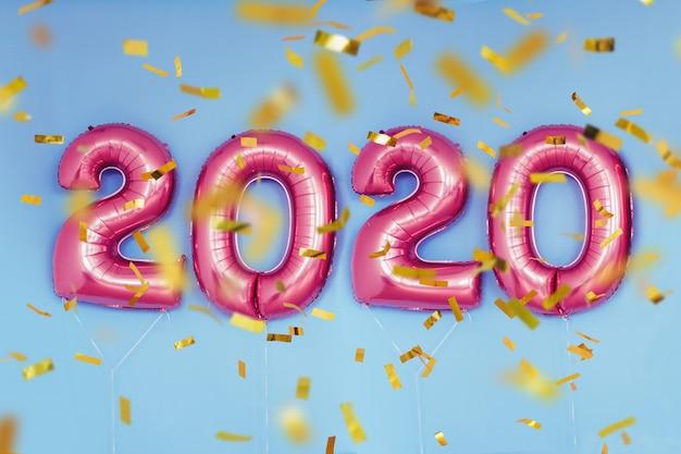 Palloncini numeri di natale capodanno 2020. celebrazione, vacanze.