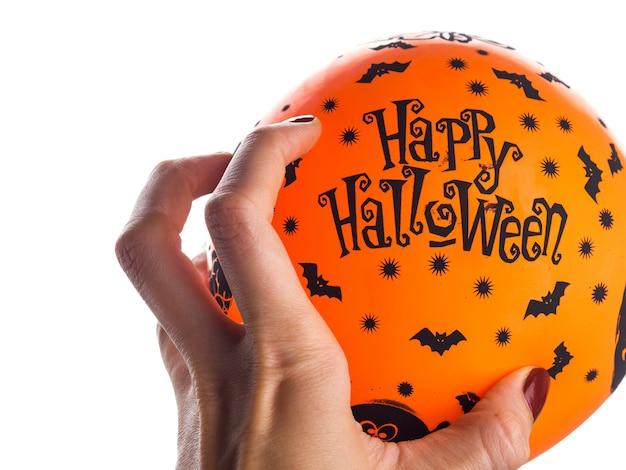 Palloncino arancione festa di halloween. buone vacanze