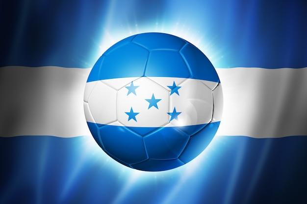 Pallone da calcio calcio con bandiera dell'honduras