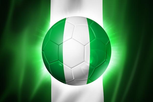 Pallone da calcio calcio con bandiera della nigeria