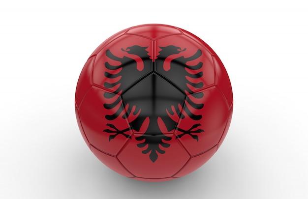 Pallone da calcio con bandiera albanese