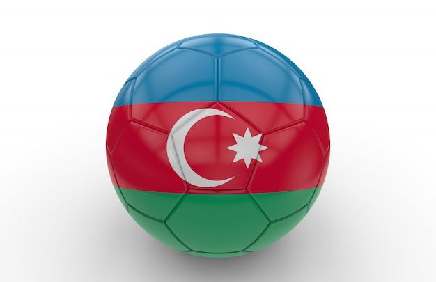 Pallone da calcio con bandiera dell'azerbaijan