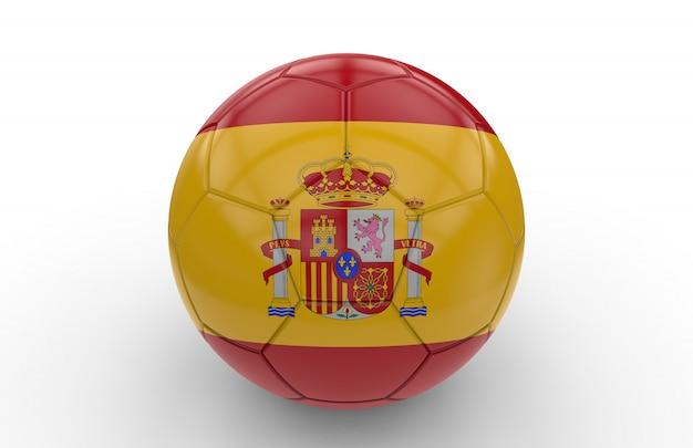 Pallone da calcio con bandiera della spagna