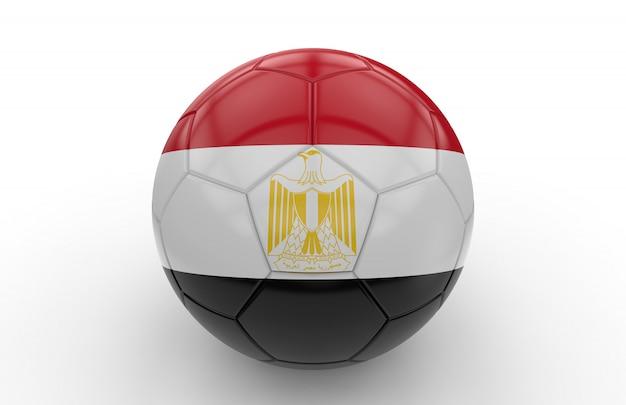 Pallone da calcio con bandiera egitto