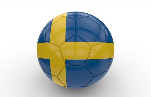 Pallone da calcio con bandiera svedese