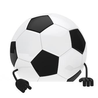 Pallone da calcio con un cartello