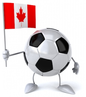 Pallone da calcio - personaggio 3d