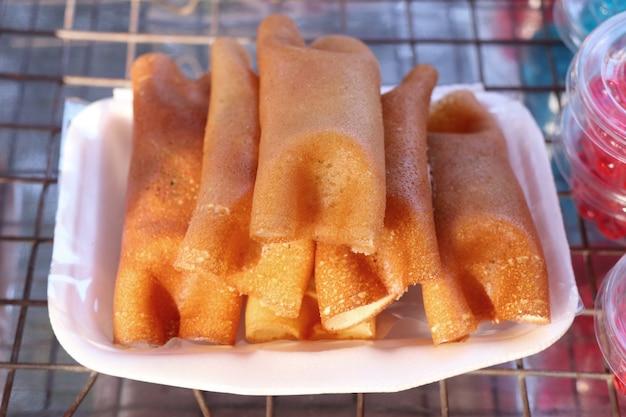 Pancake croccante tailandese - crepes crema
