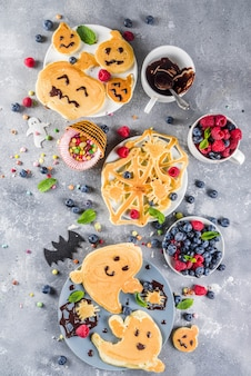 Pancake divertenti per bambini di halloween