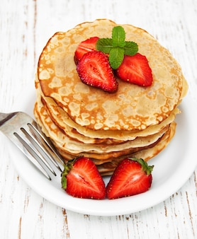 Pancakes con fragole