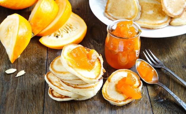 Pancakes con marmellata di zucca