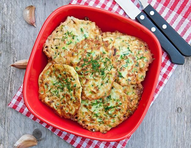 Pancakes con zucchine