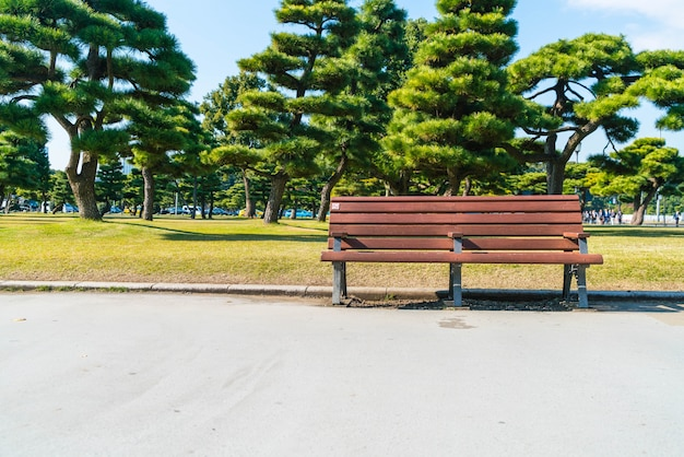 Panchina nel parco di autunno