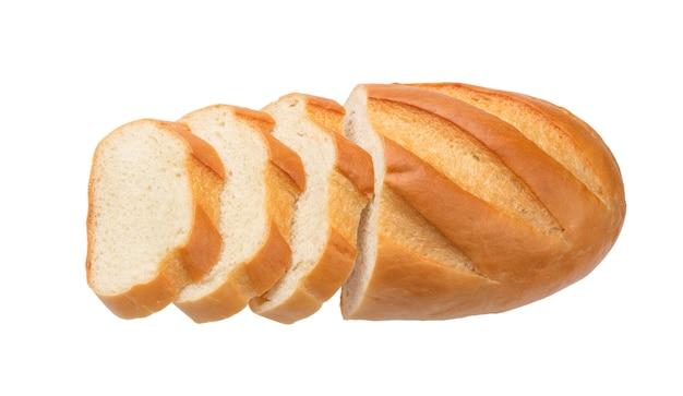 Pane affettato isolato su bianco
