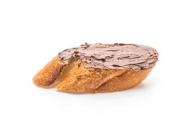 Pane con crema di nocciole al cioccolato