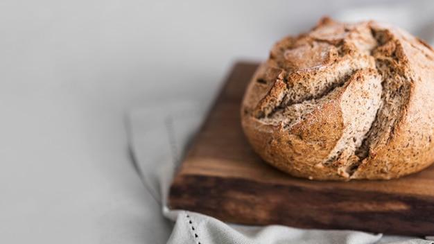 Pane dell'angolo alto sul tagliere