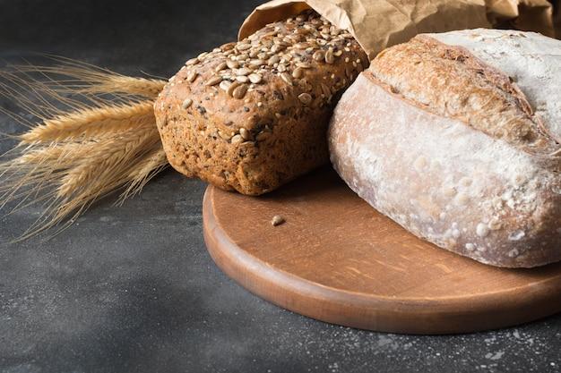Pane di segale fatto in casa.