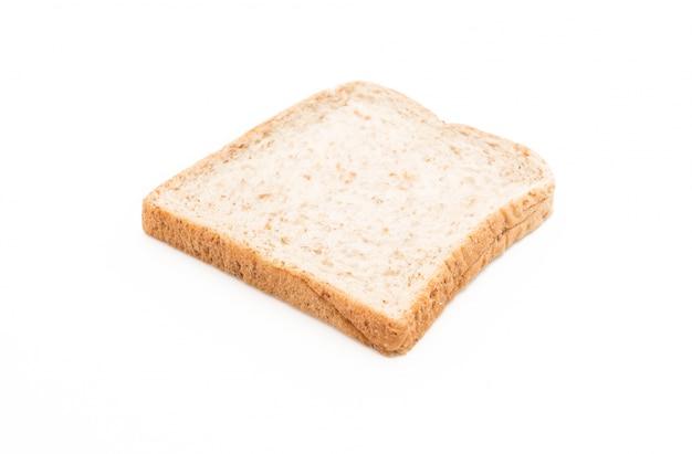 Pane integrale di grano su bianco