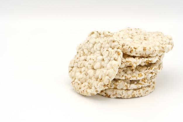 Pane tondo croccante, il concetto di dieta alimentare.