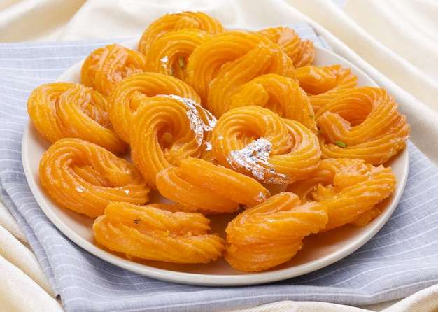 Paneer jalebi indian sweet food