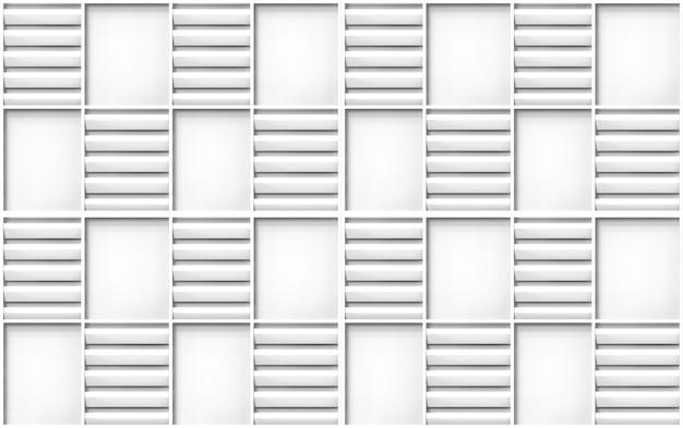 Pannello di legno grigio senza cuciture moderno nella parete quadrata di struttura di progettazione del modello della struttura