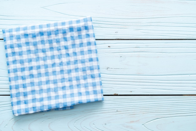 Panno da cucina (tovagliolo) su legno blu