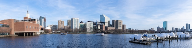 Panorama del centro di boston