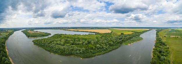 Panorama del fiume oka
