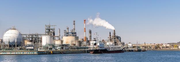 Panorama dell'impianto chimico