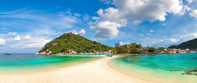 Panorama dell'isola di nang yuan a koh tao, thailandia