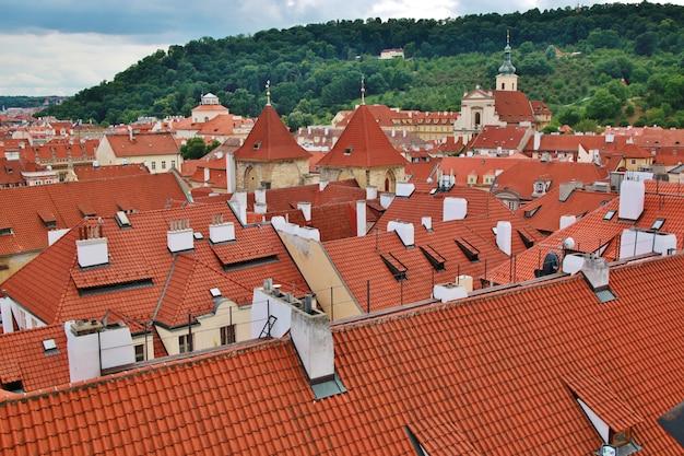 Panorama della città vecchia di praga