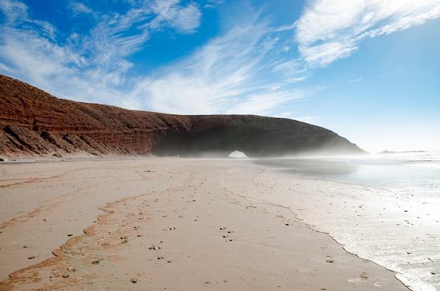 Panorama della spiaggia di legzira