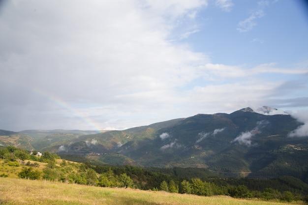 Panorama delle montagne.