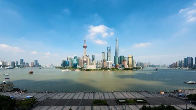 Panorama di shanghai, l'orizzonte di lujiazui di shanghai, shanghai, cina