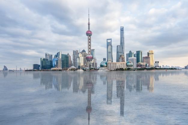 Panorama di skyline di shanghai