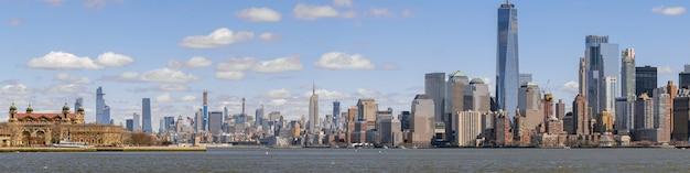 Panorama paesaggio urbano di new york