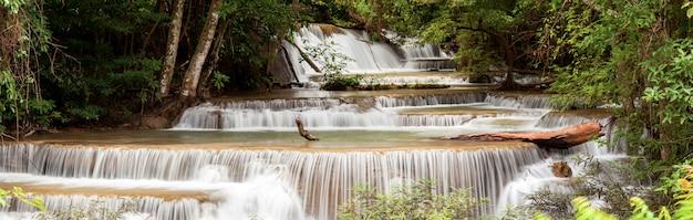 Panorama tropial waterfall