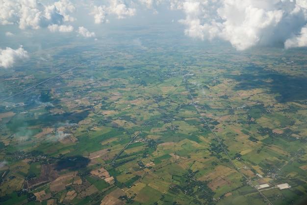 Panorama visto dall'aereo