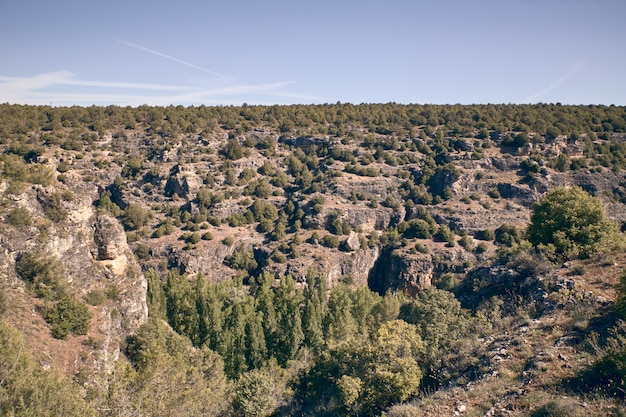 Panoramica delle falci del fiume duraton