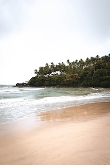 Paradise beach nel mezzo della giungla in asia