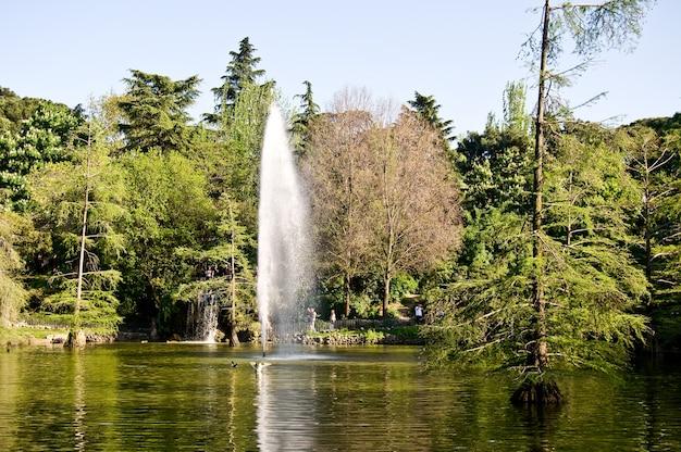 Parco del retiro spagna fonte di madrid